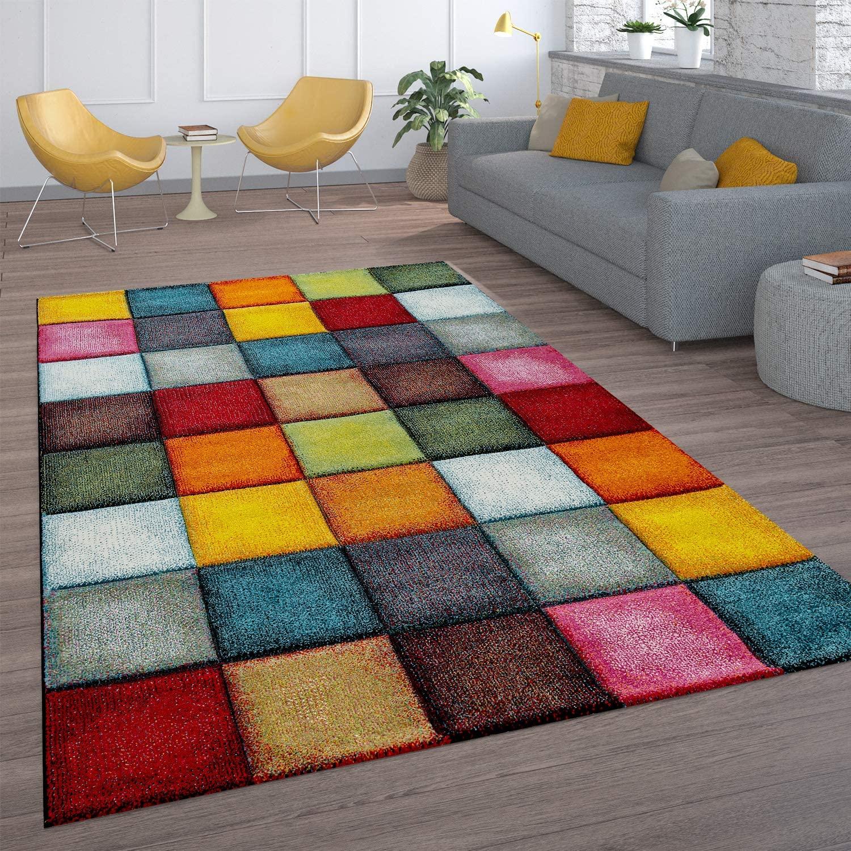 Tapis de salon multicolore